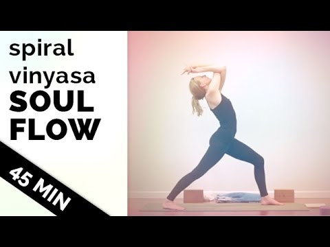 Spiral Vinyasa Soul Flow – 45 Minute Full Body Workout Vinyasa Flow