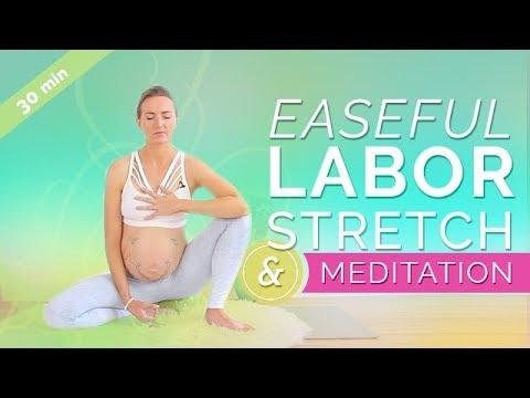 Prenatal Yoga Third Trimester: Easeful Labor Stretch & Meditation (30-min) Pregnancy Meditation