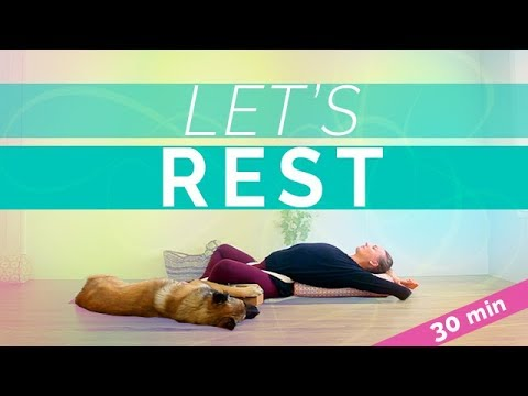 Restorative Yoga for Lower Back Pain (30-min) Relaxing Yin Yoga with bolster