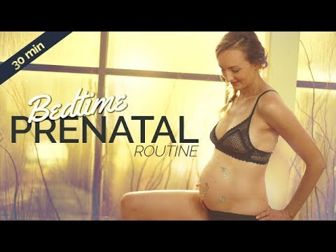Easy Prenatal Bedtime Yoga Routine For Better Sleep (30-min)