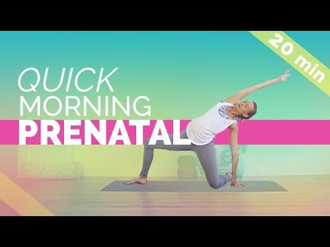 Quick & Easy Prenatal Morning Yoga Routine (20-min) For All 3 Trimesters