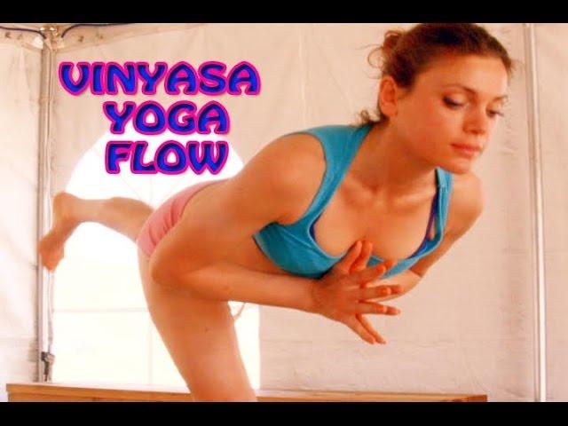 Core Vinyasa Flow Level 1-2 Intermediate Free Yoga Class Experienced